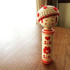 #佐藤コケシ さんのベレー帽がよくお似合いの#ゆめみるこけし ちゃん色合いもサイズもピッタリです♡ #こけし #kokeshi