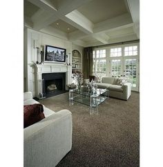 Living Room Dark Carpet Fireplaces New Ideas Wohnzimmer Dark Carpet Kamine Neue Ideen Brown Carpet Living Room, Living Room Grey, Living Room Kitchen, Rugs In Living Room, Dark Carpet, Modern Carpet, Living Room Flooring, Living Room Paint, Living Room Decor Colors