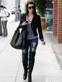 #stylish #Leather #Knee #High #Boots, #Suede #Knee #High Boots and more