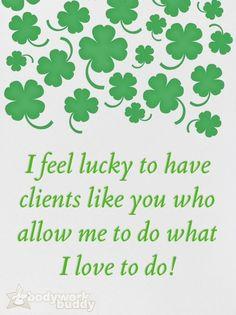 St. Patrick's day massage
