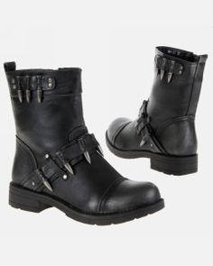 Invictian - Black & Bullets - Ranger Boots - Woman