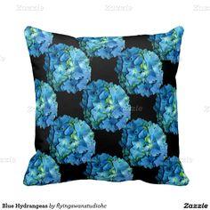 Blue Hydrangeas Pillow http://www.zazzle.com/hydrangeas*