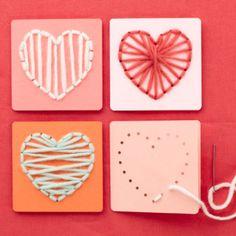 Valentine String Art for Kids