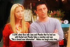 One of the greatest lines Friends Tv Quotes, Friends Moments, Friend Memes, Friends Forever, Friends Cast, Friends Series, Friends Tv Show, Friends Family, Joey And Phoebe
