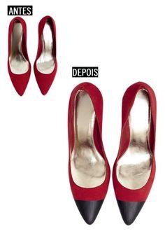 Passo a passo para fazer sapatos bicolores - Moda, Beleza, Estilo, Customizaçao e Receitas - Manequim - Editora Abril