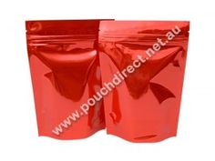 1KG RED/RED - STAND UP POUCH WITH ZIPPER | STAND BAGS. Visit us at http://www.pouchdirect.net.au/1kg-red-stand-bags.html