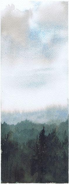 Watercolor Ardennes Vittorio Bustaffa