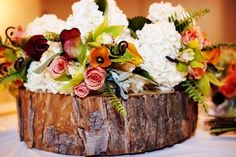wood slices centerpieces - Bing Images