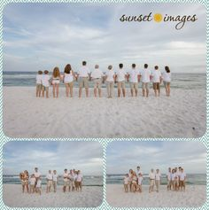 colorful beach pictures, family beach pictures, family poses, beach pictures, sunset beach pictures, boys, little boys, destin, large family poses, large family pictures