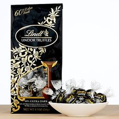 Lindt 60% Dark Chocolate Lindor Truffles   World Market- What's some wine without a little chocolate?  Eh, eh?