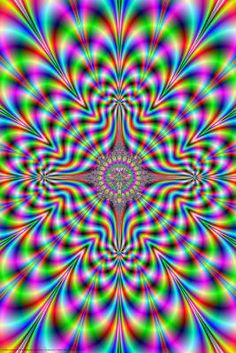 Psychedelic Pulse Optical Illusion Art Poster