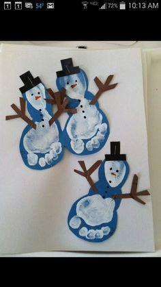 Snowman feet