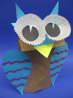 At our Halloween Paper Craft program we made an array of bewitching crafts including hootacular paper bag owl puppets.