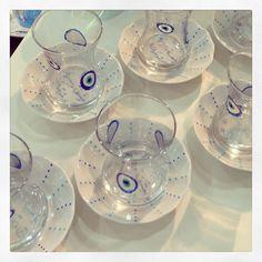 Blue eye tea glasses