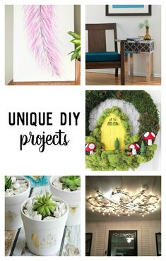 From a fairy garden wreath to metallic tattooed flower pots, these unique DIY projects are not only interesting, they're totally doable. Get the tutorials!