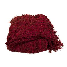 August Grove Madison Woven Throw Blanket Color: Cherry
