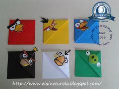 Bom dia, chegando o boa tarde!! Uffa!! Esta saindo o tutorial do marcador de página do Angry Birds.  É bem simples, e gostoso de fazer!     ...