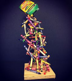 Art @ Massac: Crayon sculpture
