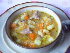 Bardzo smaczny kapuśniak, polecam. Soup Recipes, Diet Recipes, Cooking Recipes, Healthy Recipes, Polish Soup, European Dishes, Brunch, Polish Recipes, Frugal Meals