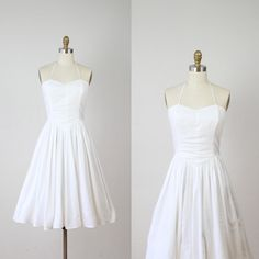 Love This Simple Cotton Wedding Dress