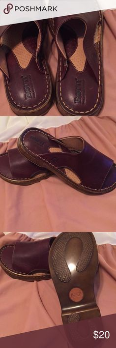 Chocolate brown Born sandals Brand spanking new. Purchased for a cruise but let behind. Never worn. Just amazing, comfy and classic Born sandals. Born Shoes Sandals