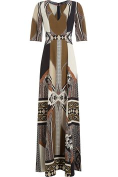 Etro - Printed Silk Maxi Dress