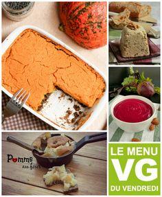 menu VG du vendredi confortant ce début d'automne Nutrition, Cheese, Vegans, Food, Tables, Vegetarian Cooking, Apple, Friday, Mesas