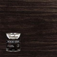 Ebony Premium Fast Dry Interior Wood Stain provides high quality color in 1 coat to enhance the natural beauty of interior wood surfaces. Fast drying formula dries in 1 hour and Interior Wood Stain, Stain Furniture, Furniture Refinishing, Staining Cabinets, Cabinet Stain, Varathane Wood Stain, Acid Stained Concrete, Countertop Paint Kit, Lime Paint