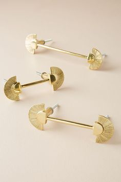 Graham Handle by Anthropologie in Brown, Hardware Knobs And Handles, Brass Handles, Cabinet Handles, Door Handles, Cabinet Hardware, Furniture Hardware, Home Hardware, Furniture Handles, Kitchen Furniture