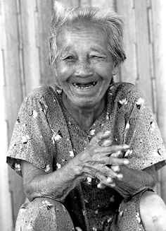 If I could be this happy @ whatever her age, then I'd look forward to getting there! Who knowsl