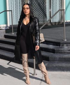 Knee Boots, Fall Outfits, Leather Pants, Fall Clothes, How To Wear, Shoes, Makeup, Fashion, Leather Jogger Pants