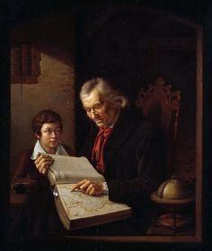 """Geography lesson"". Edward Carl Gustav Lebrecht Pistorius (1796-1862) #globe"