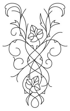 Elven Court Leaves Cascade | Urban Threads: Unique and Awesome Embroidery Designs