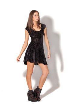 Burned Velvet Evil Cheerleader Dress