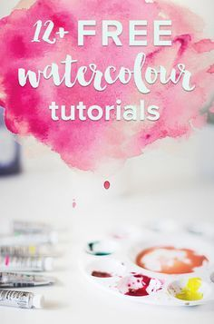 12 free watercolour tutorials Get started watercolouring today Some of these watercolour tutorials are done using the computer while others are done with paint and brush. Watercolor Painting Techniques, Watercolor Projects, Watercolor Tips, Watercolour Tutorials, Painting Lessons, Painting Tips, Watercolor Tutorial Beginner, Matte Painting, Watercolor Pencils
