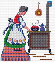 Cross Stitch | Cook xstitch Chart | Design