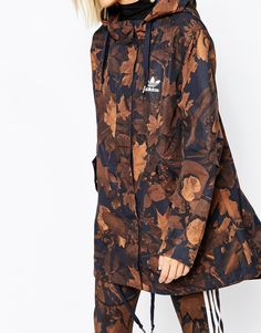 Image 3 of adidas Parka Coat In All Over Camo Leaf Print