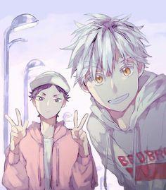 Akaashi and Bokuto / Como eu amo esses dois cara, e também shippo muito esses dois