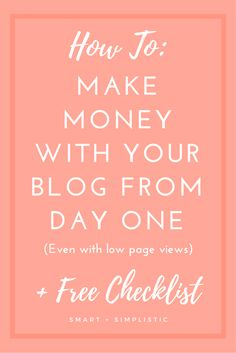 How to make money blogging as soon as you launch your blog. I see so many…