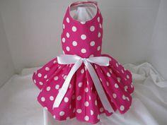Dog Dress  XS  Pink with White Polkadots   by NinasCoutureCloset, $25.00