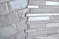 Hard to believe these beautiful tiles are peel and stick tiles! I got the chance Smart Tiles Backsplash, Kitchen Backsplash Peel And Stick, Peel And Stick Tile, Backsplash Ideas, Stick On Tiles Bathroom, Home Renovation, Home Remodeling, Apartment Therapy, Home Upgrades