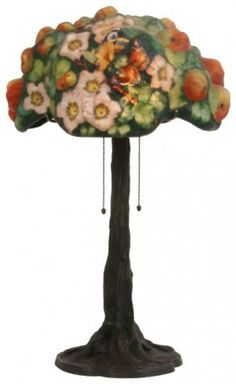Rare Pairpoint Puffy Apple Tree Table Lamp