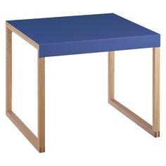KILO Azure blue metal side table | Buy now at Habitat UK