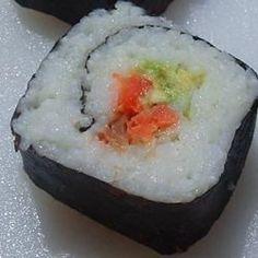 Smoked Salmon Sushi Roll - Allrecipes.com