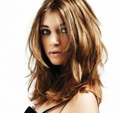 hairstyles for med to long hair Medium Hair Styles, Long Hair Styles, 2015 Hairstyles, Dream Hair, How To Make Hair, Layered Hair, Hair Highlights, Hair Day, Hair Looks