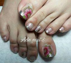 Toe Nail Art, Toe Nails, Manicure And Pedicure, Nail Art Designs, Hue, Pretty Pedicures, Nice Nails, Designed Nails, Fingernails Painted