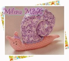 Milena M2K: Caracol Rosa e Lilas