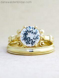 LULU - Vintage Inspired Antique Filigree Engagement Ring - NYC – Dana Walden Bridal :: Engagement Ring Designers - NYC