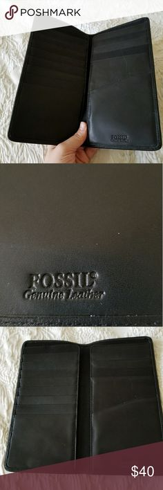 Leather black Fossil wallet Leather black Fossil wallet Fossil Bags Wallets