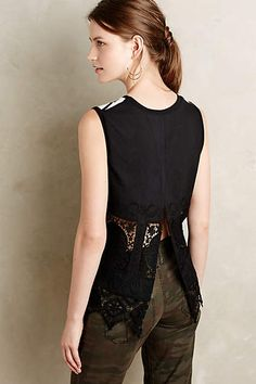 Striped Lace-Back Tank - anthropologie.com #anthroregistry